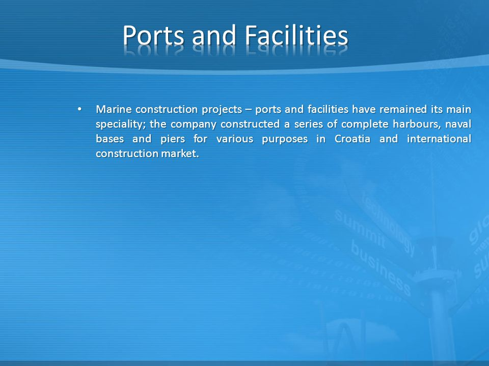 Ports and Facilities
