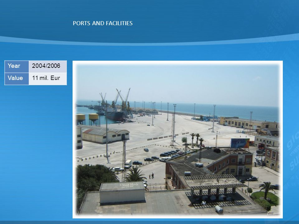 PORTS AND FACILITIES Year 2004/2006 Value 11 mil. Eur