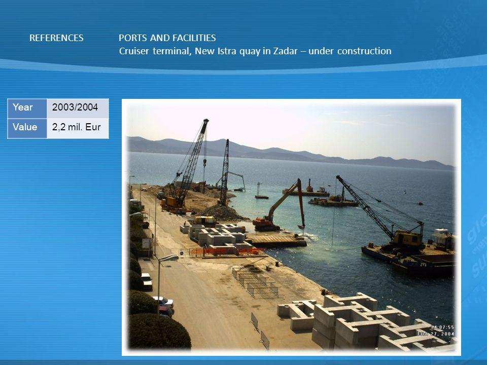 Cruiser terminal, New Istra quay in Zadar – under construction