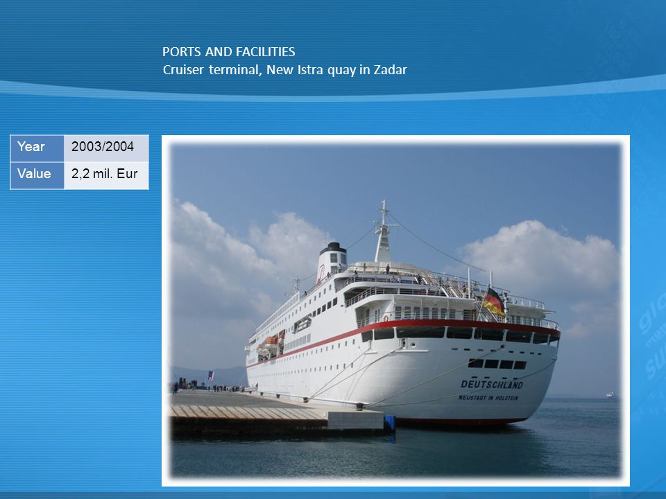 Cruiser terminal, New Istra quay in Zadar