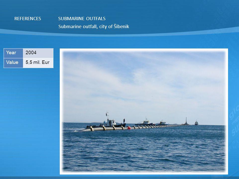 Submarine outfall, city of Šibenik