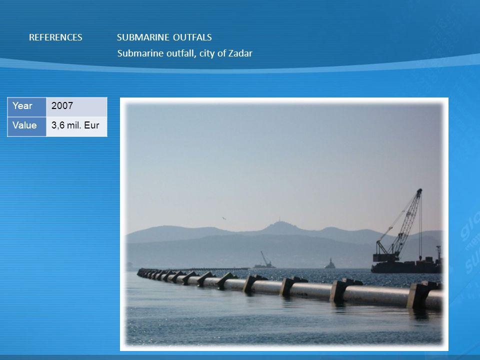 Submarine outfall, city of Zadar