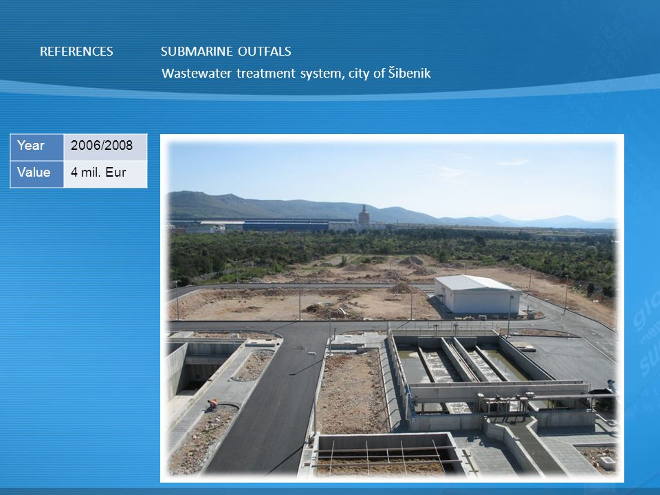 Wastewater treatment system, city of Šibenik