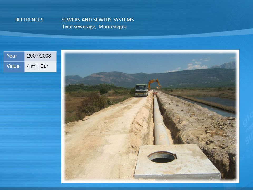 SEWERS AND SEWERS SYSTEMS Tivat sewerage, Montenegro