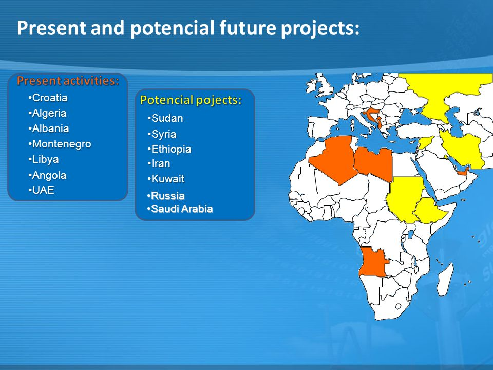 Present and potencial future projects: