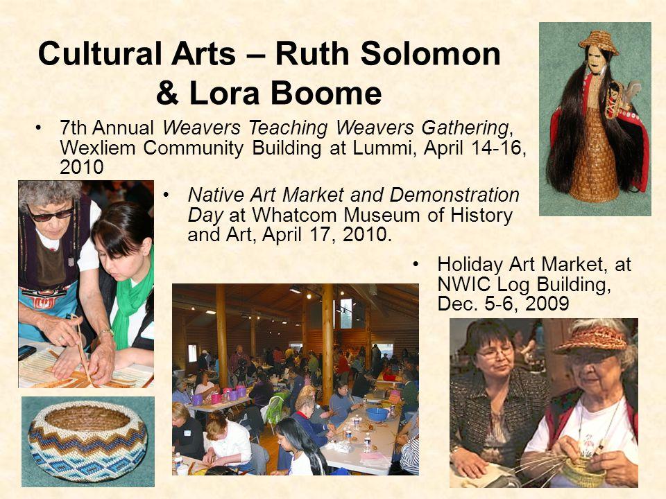 Cultural Arts – Ruth Solomon & Lora Boome