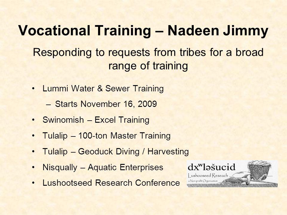 Vocational Training – Nadeen Jimmy