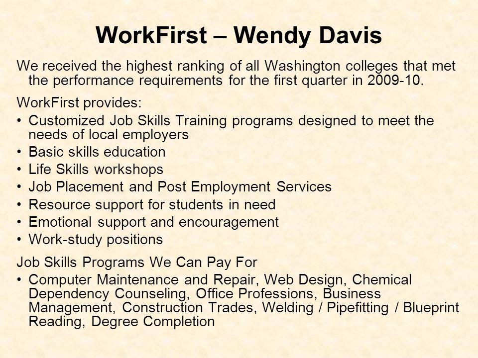 WorkFirst – Wendy Davis