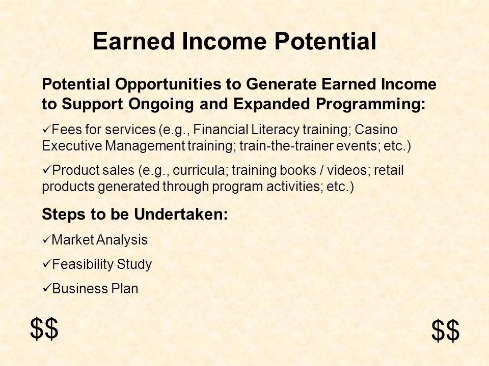 Earned Income Potential