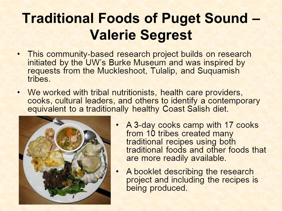 Traditional Foods of Puget Sound – Valerie Segrest
