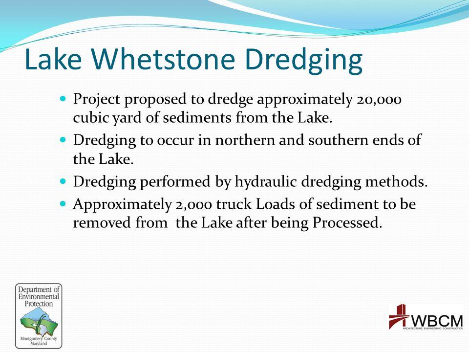 Lake Whetstone Dredging