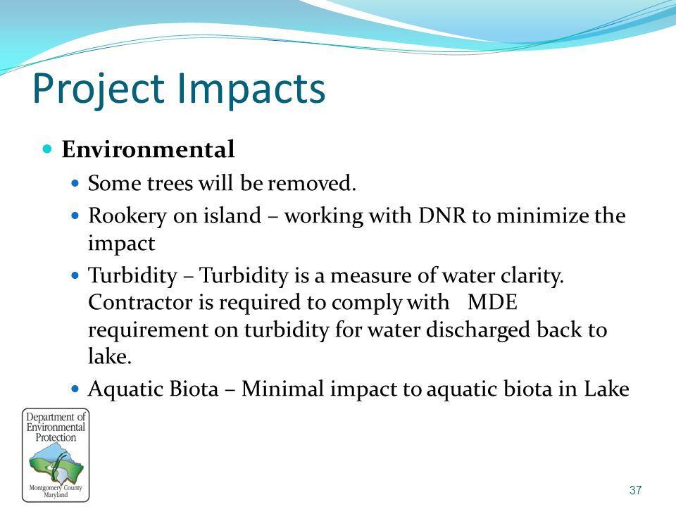 Project Impacts Environmental Some trees will be removed.
