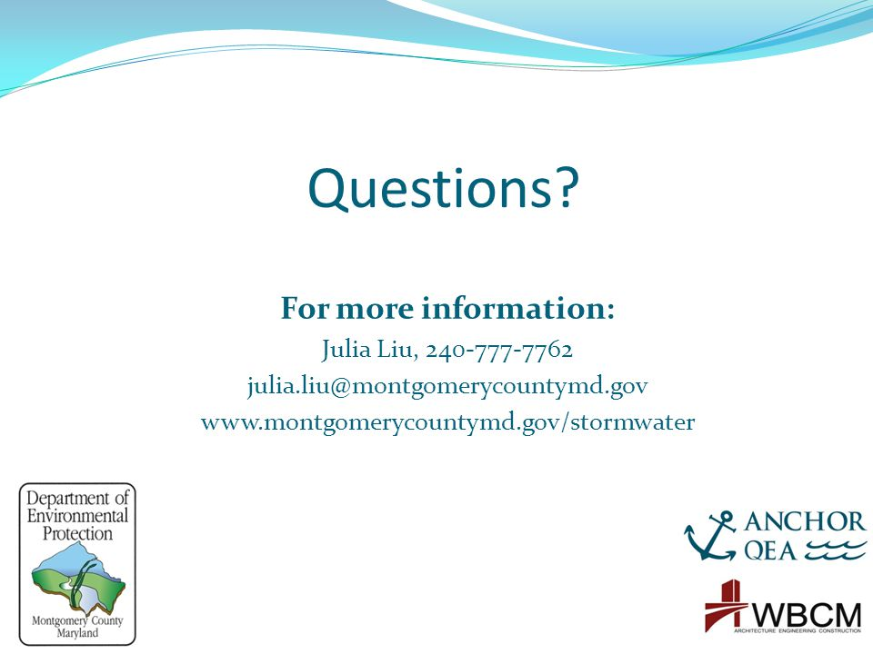 Questions For more information: Julia Liu, 240-777-7762