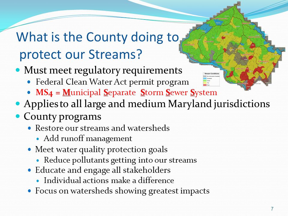What is the County doing to protect our Streams