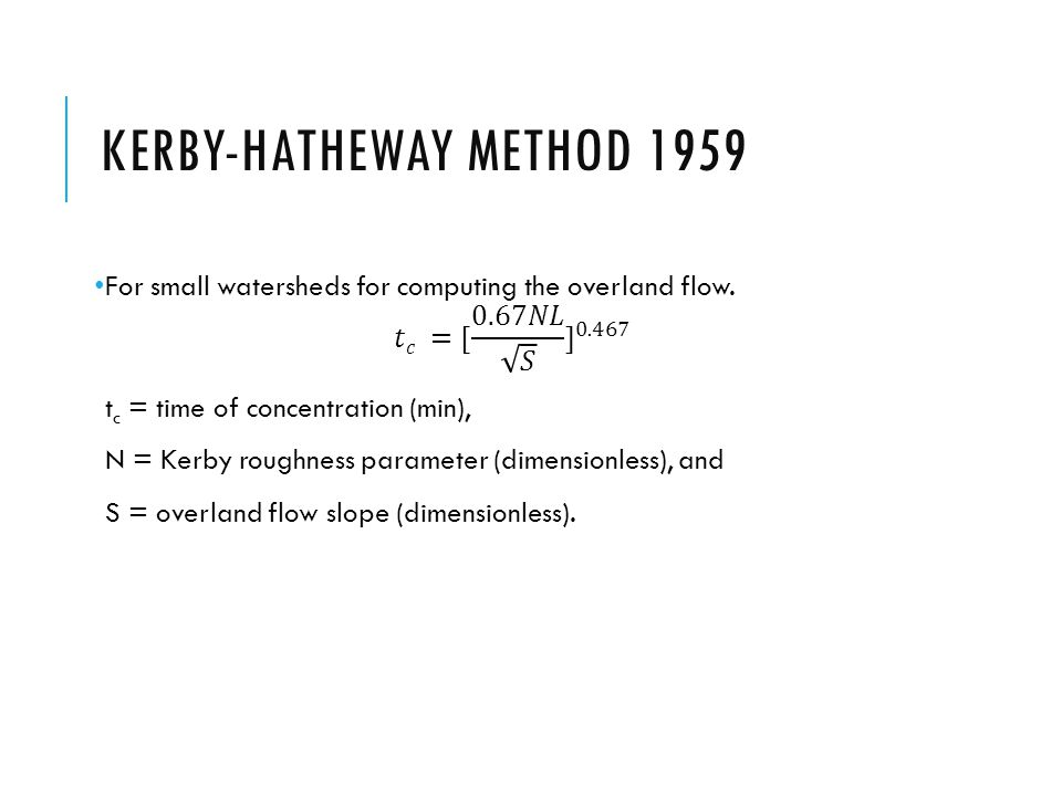 Kerby-Hatheway Method 1959
