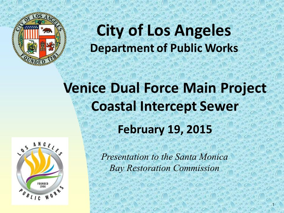 City of Los Angeles Venice Dual Force Main Project