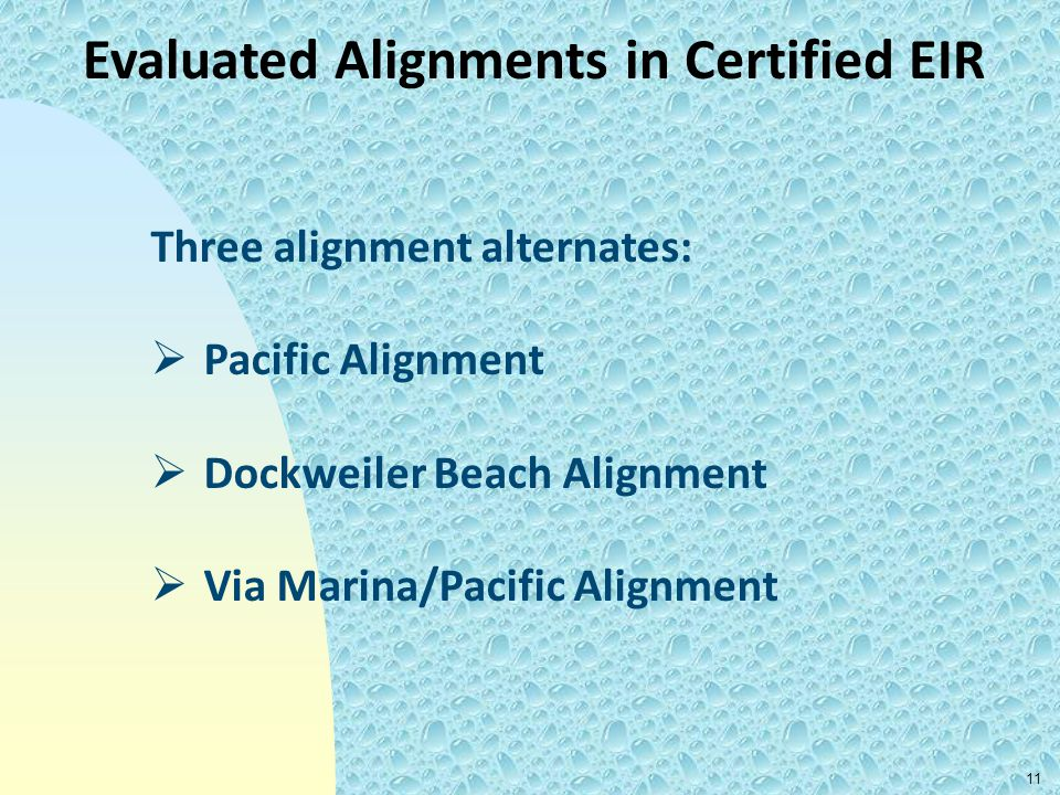 Evaluated Alignments in Certified EIR