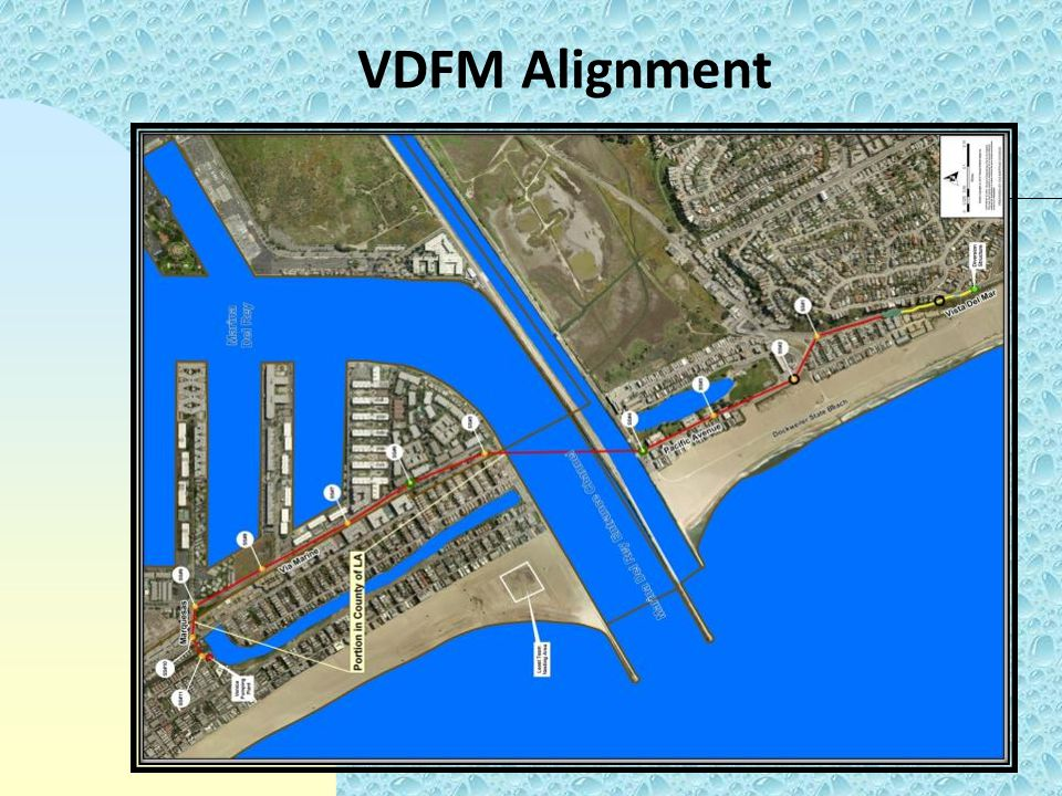 VDFM Alignment The project alignment is approximately two miles long.