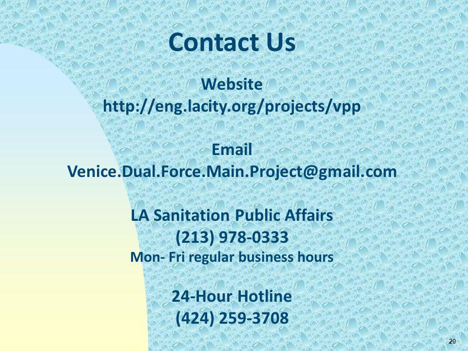 LA Sanitation Public Affairs Mon- Fri regular business hours