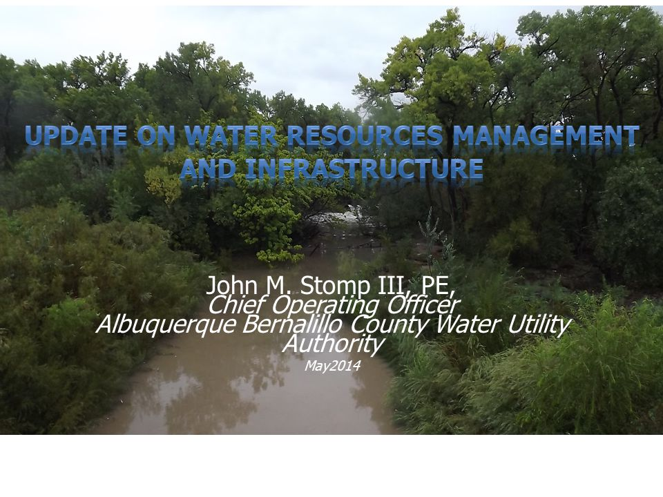 UPDATE on water resources management and infrastructure