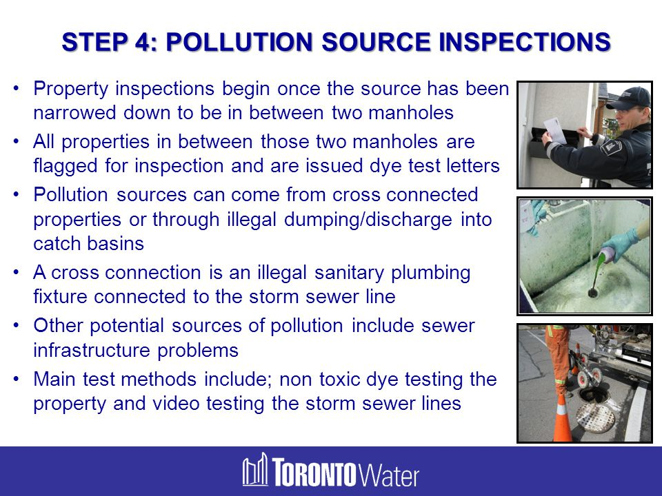 STEP 4: POLLUTION SOURCE INSPECTIONS