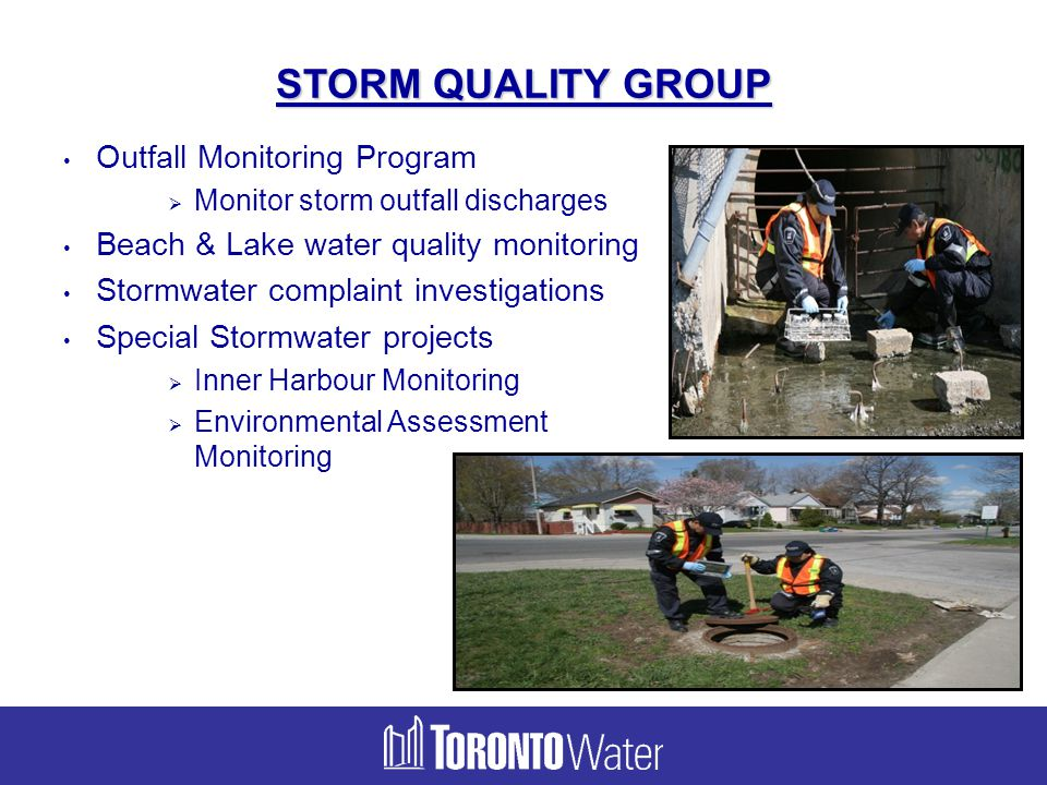STORM QUALITY GROUP Outfall Monitoring Program