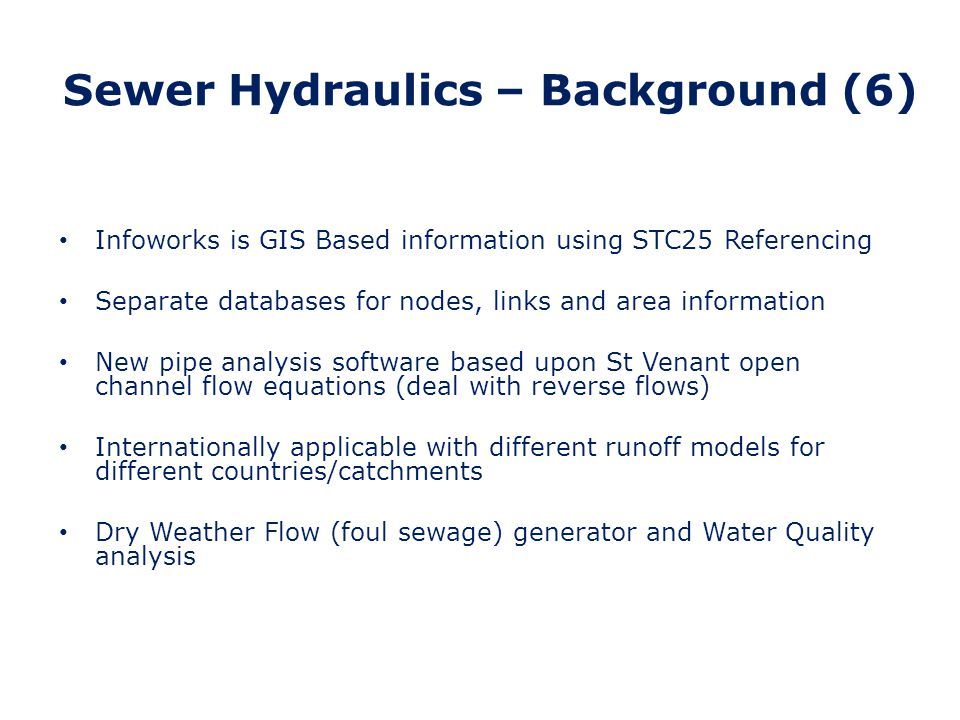 Sewer Hydraulics – Background (6)