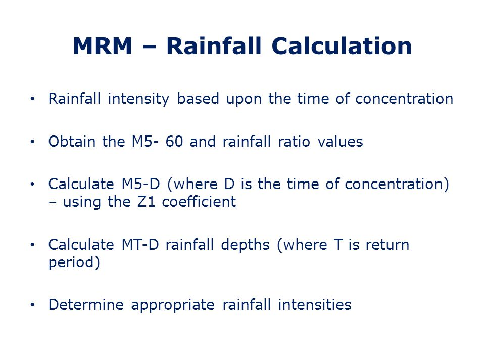 MRM – Rainfall Calculation