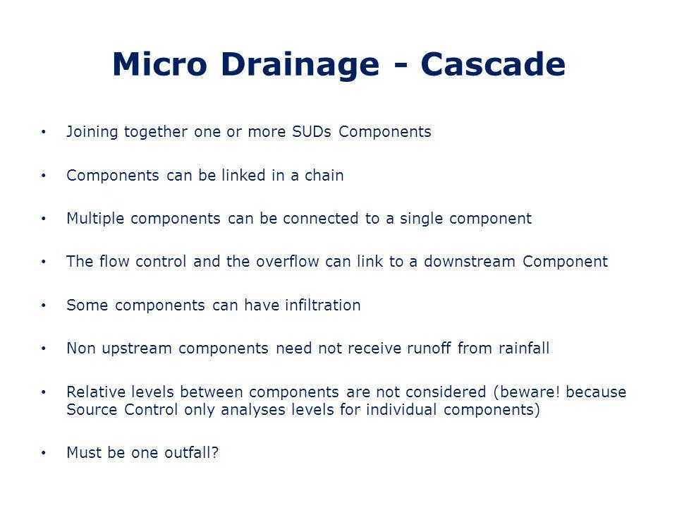 Micro Drainage - Cascade