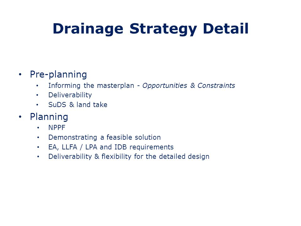 Drainage Strategy Detail