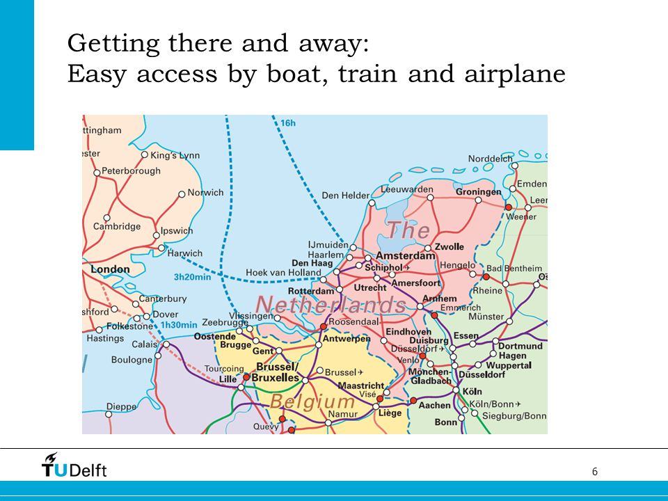 Getting there and away: Easy access by boat, train and airplane
