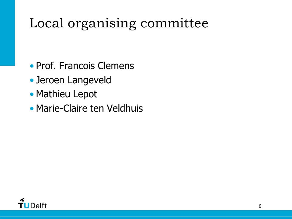 Local organising committee