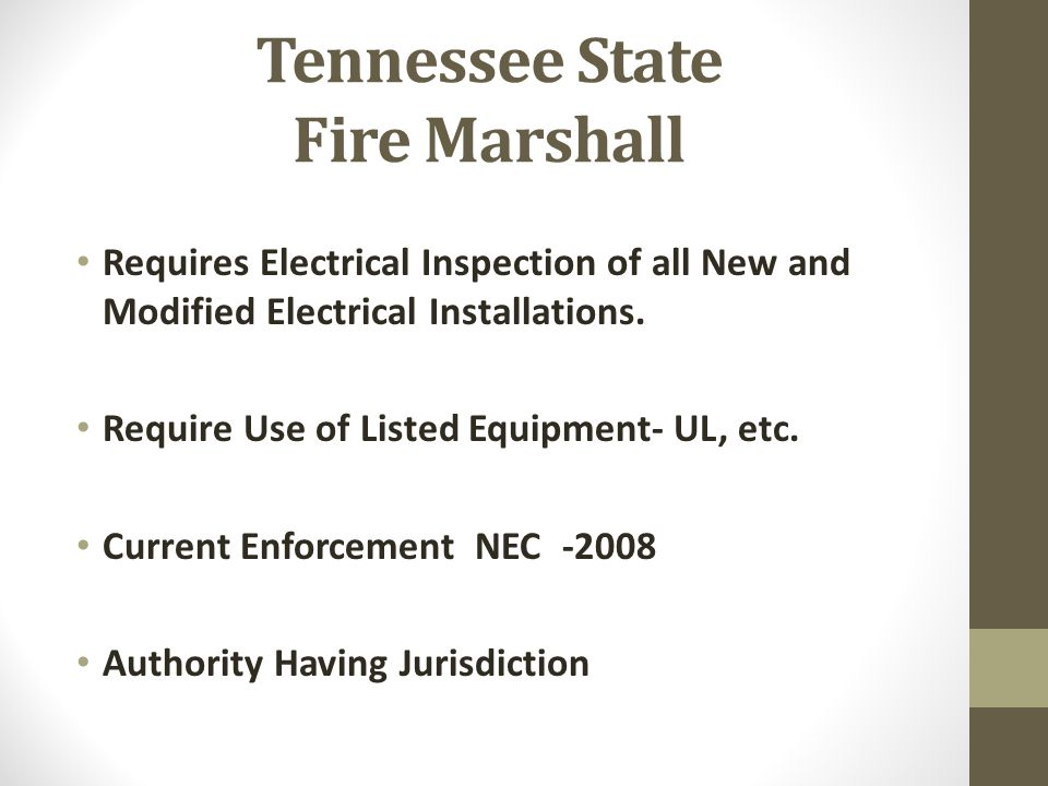 Tennessee State Fire Marshall