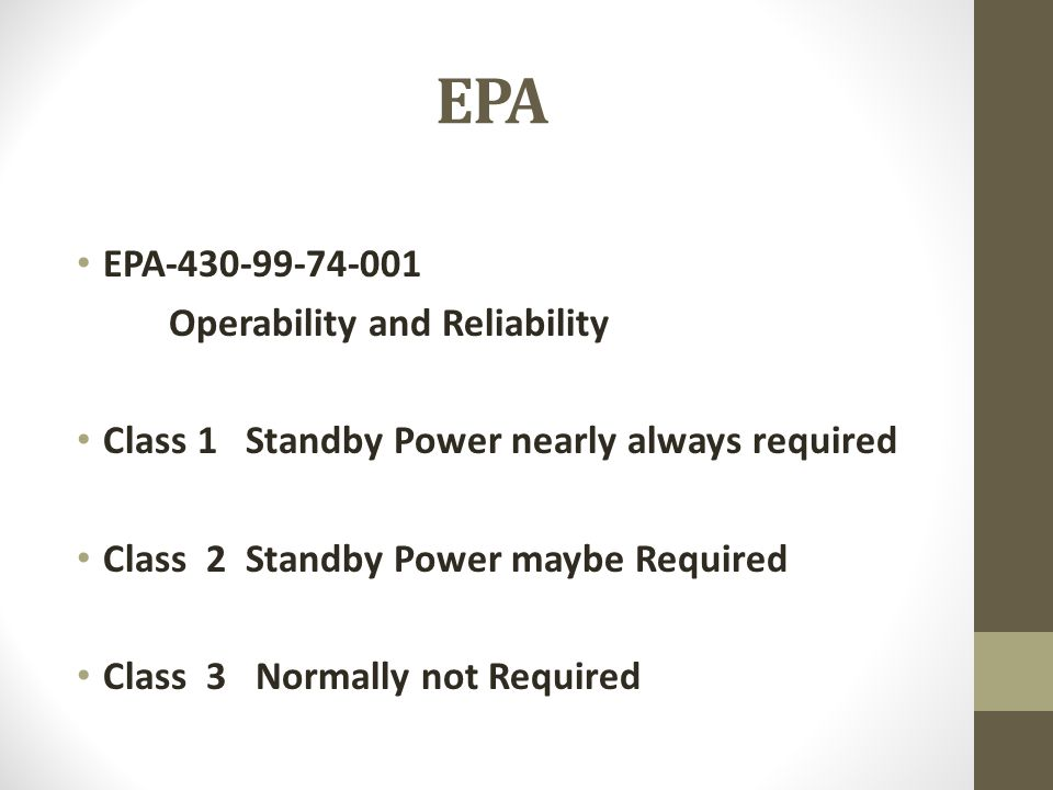 EPA EPA-430-99-74-001 Operability and Reliability