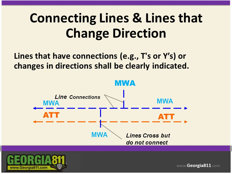 Connecting Lines & Lines that Change Direction