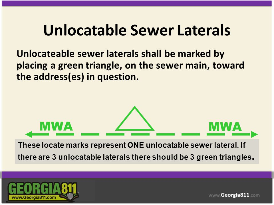 Unlocatable Sewer Laterals