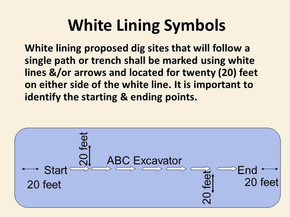 White Lining Symbols