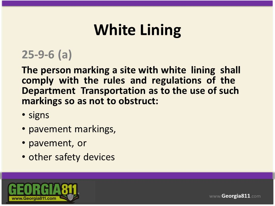 White Lining 25-9-6 (a)