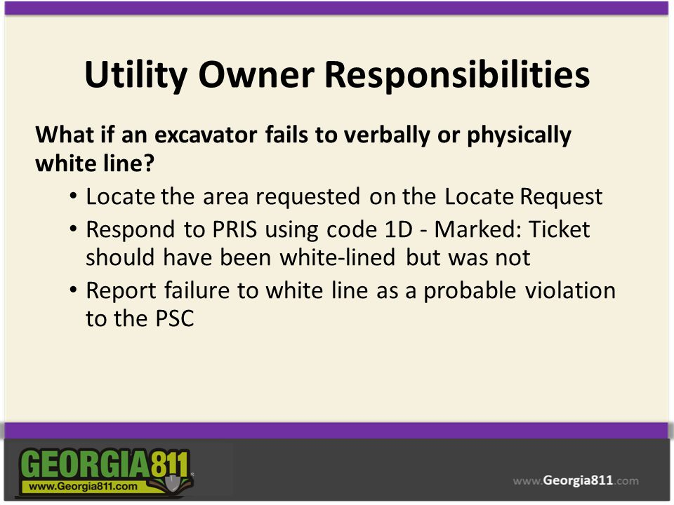 Utility Owner Responsibilities