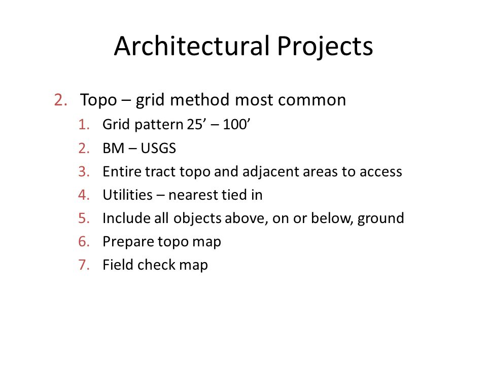 Architectural Projects