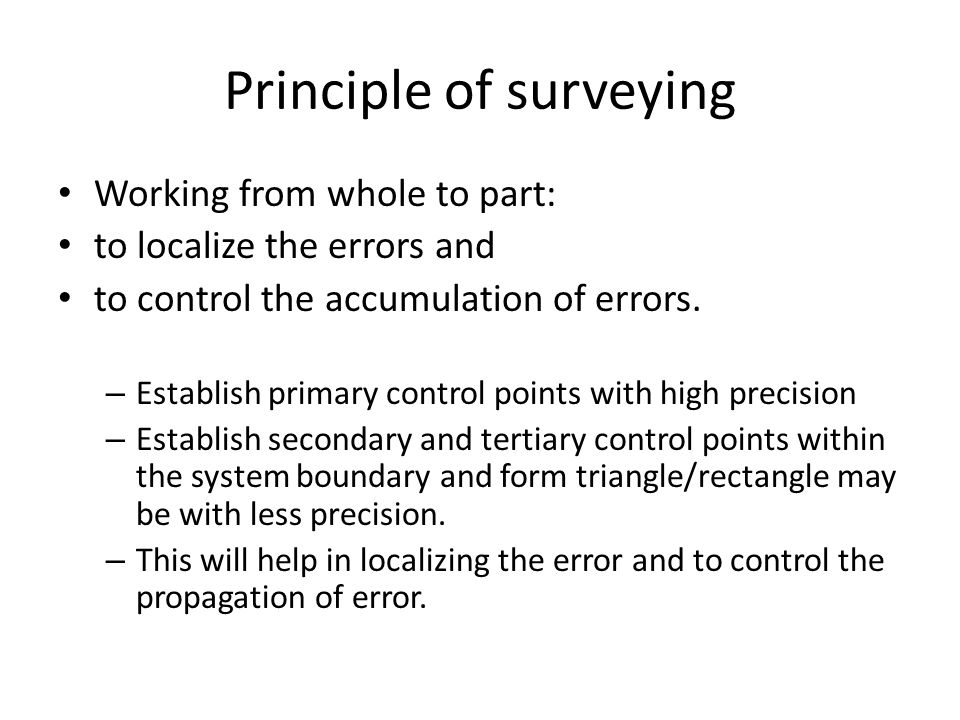 Principle of surveying