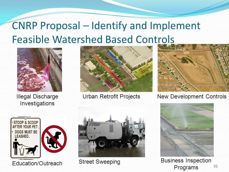 CNRP Proposal – Identify and Implement Feasible Watershed Based Controls