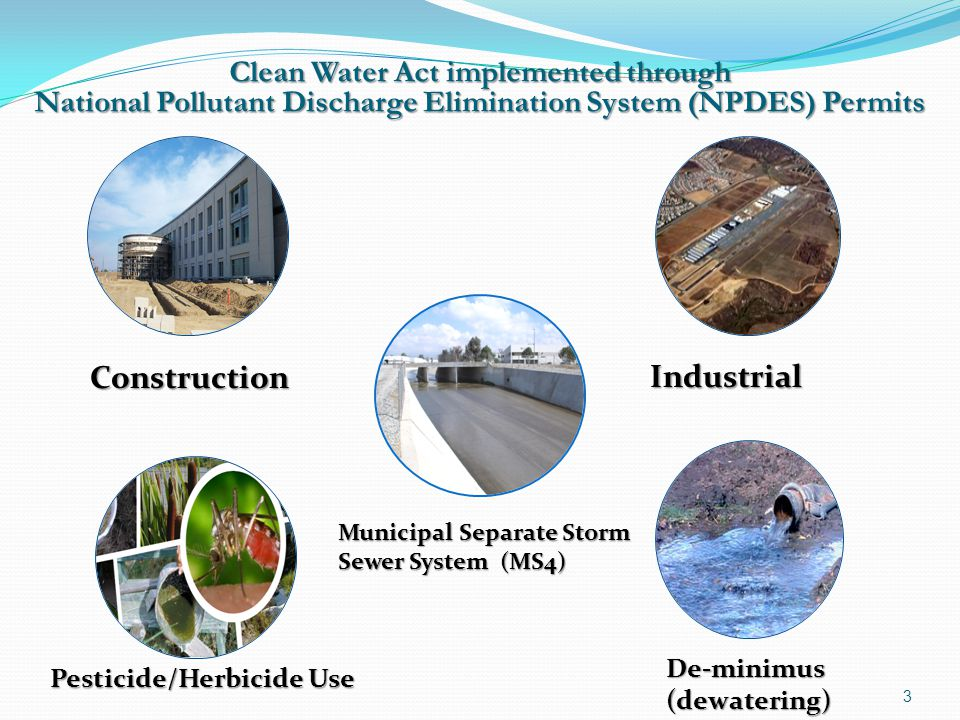 Construction Industrial Clean Water Act implemented through