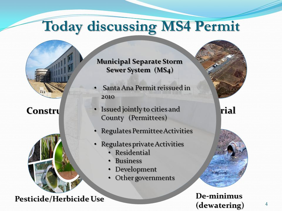 Today discussing MS4 Permit