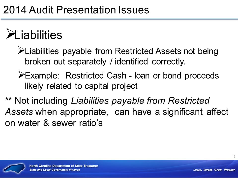 2014 Audit Presentation Issues