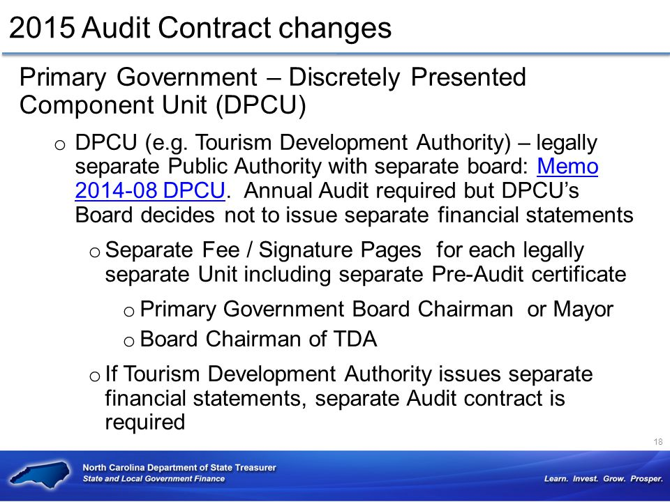 2015 Audit Contract changes
