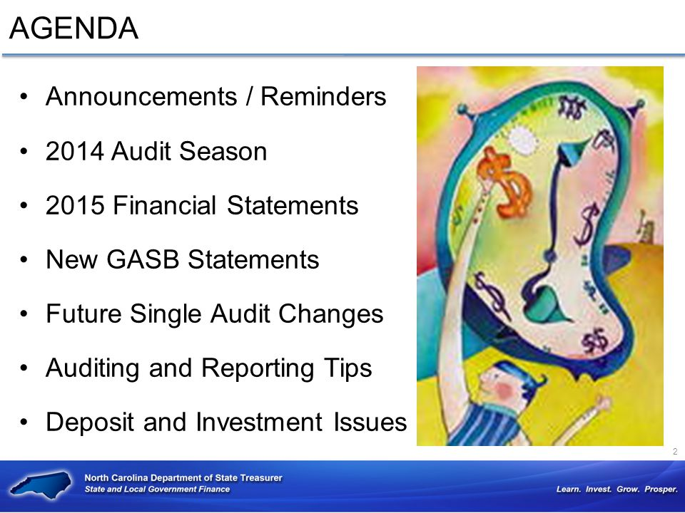 AGENDA Announcements / Reminders 2014 Audit Season