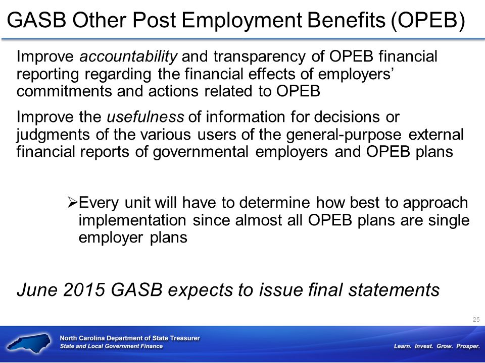 GASB Other Post Employment Benefits (OPEB)