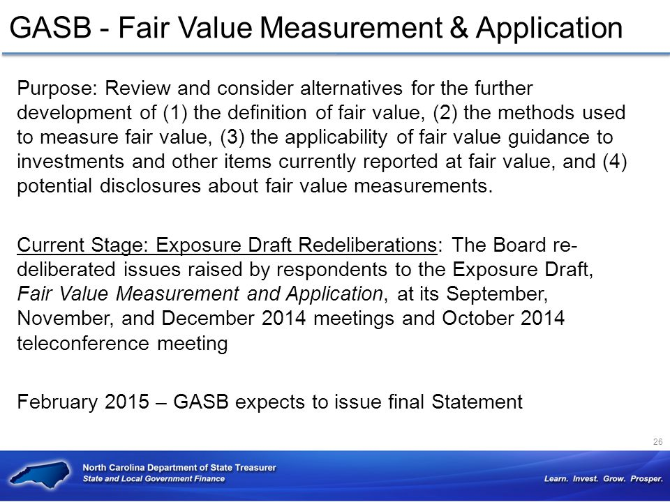 GASB - Fair Value Measurement & Application