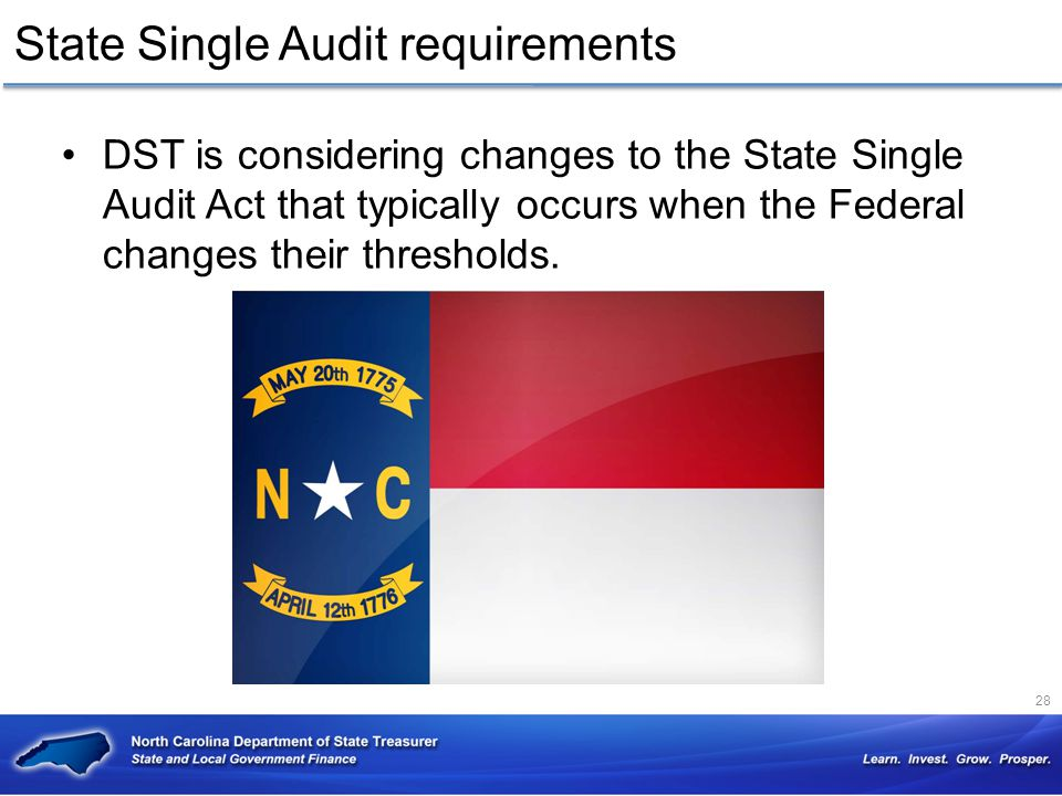 State Single Audit requirements
